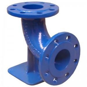 Cot cu picior si flanse pentru hidrant subteran DN 80