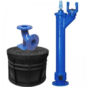 Hidrant subteran A.I=1m + cot picior + cutie protectie DN 65/80