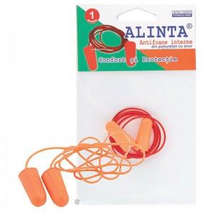 Antifoane Alinta PU interne cu snur (1 pereche)