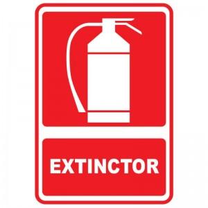 Indicator - EXTINCTOR - suport PVC rigid 20x30cm (1 buc)