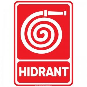 Indicator autocolant - Hidrant - A5