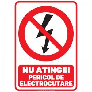 Indicator autocolant - Pericol de Electrocutare - A5