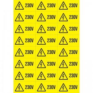 Indicator autocolant - 230V priza