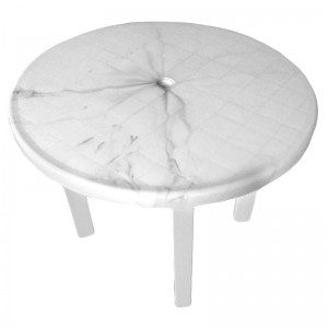 Masa plastic rotunda