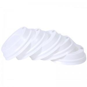 Capace albe din plastic pentru pahare 210ml