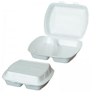 Cutie pentru prînz cu 2 compartimente 230x182x80 mm [100 buc.]