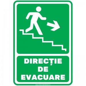 Indicator autocolant - DIRECTIE DE EVACUARE - trepte