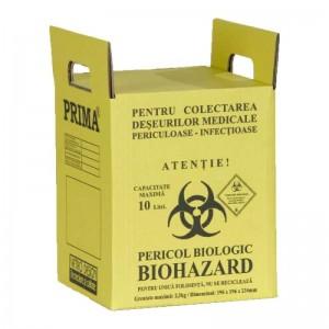Cutie incinerare deseuri infectioase - 10 litri (1 buc)