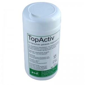 Dezinfectant suprafete TOPACTIV servetele umede - flacon (90 buc)